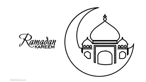 gambar mewarnai tema ramadhan hd