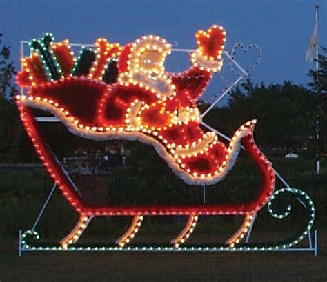 animated santa  sleigh garland christmas lights