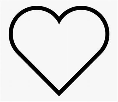 Heart Clip Line Organ Check Coloring Clipart