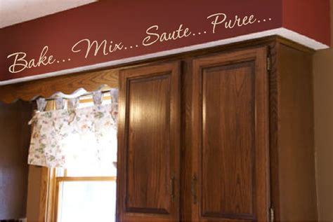 kitchen words actions wall border soffit border vinyl wall