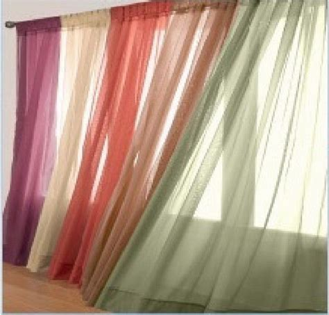 two sheer voile window panel curtains 20 different colors