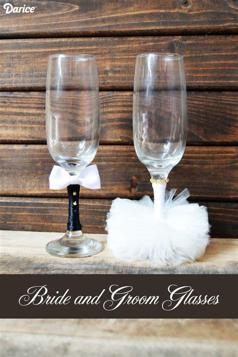 Crafts Wedding Decorations by Wedding Crafts Diy And Groom Glasses Darice