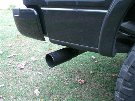 black exhaust tip   black truck ford