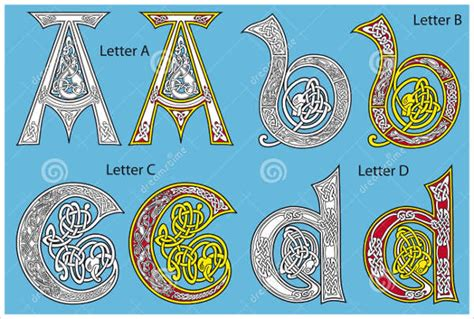 celtic alphabet letters  sample  format