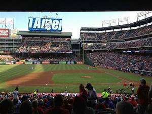 Globe Life Park Seating Chart For Concerts Globe Life Park In Arlington Section 120 Row 34 Seat 5