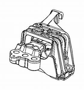 2014 Dodge Dart Isolator  Transmission Mount   6