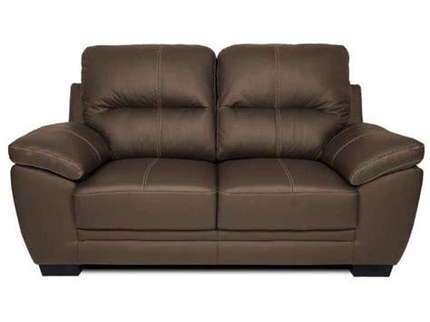 canapé cuir 2 places conforama canapé fixe 2 places en cuir 2 coloris