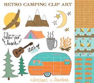 Camping in a Camper Clip Art