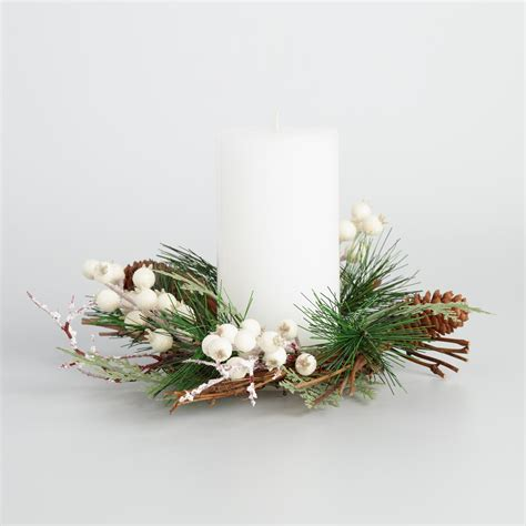 ivory berry christmas candle ring world market