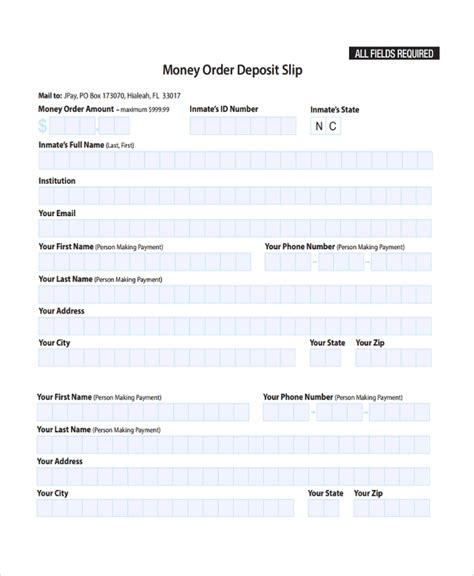 sample deposit slip template   documents