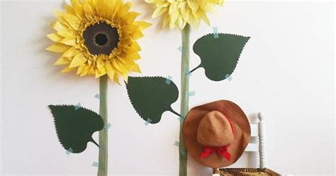 Tissue Paper Sunflowers! A Fun Fall Diy Paper Craft And