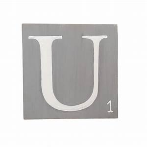 Lettre En Bois A Poser : lettres en bois poser gris ~ Teatrodelosmanantiales.com Idées de Décoration