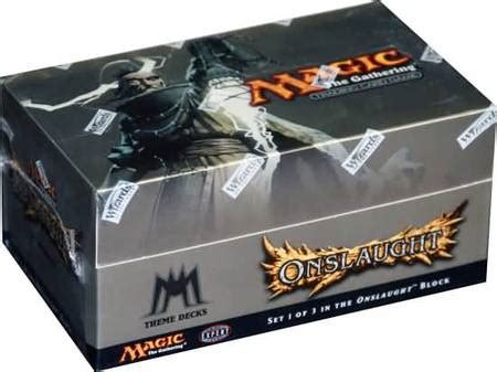 onslaught preconstructed theme deck box with 12 decks mtg