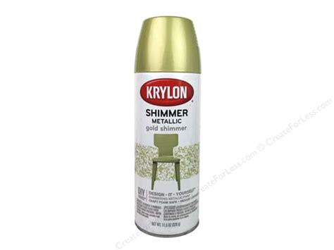 Krylon Shimmer Metallic Spray Paint 11.5 Oz. Gold Vintage Boy Baby Shower Invitations Owl Themed Decorations For Chair Rentals Nyc Cakes In Md Girl Thank You After Cheap Food Gray