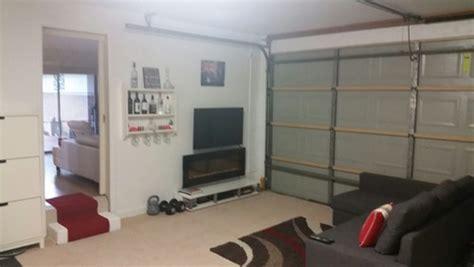 garage turned into bedroom garage conversion any ideas to hide garage door 15375   home design