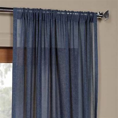 Sheer Linen Faux Curtain Panel Rose Street
