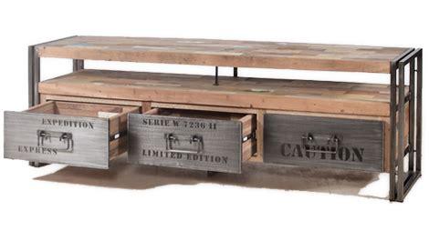 bureau style industriel en m騁al et bois fabriquer meuble industriel maison design bahbe com