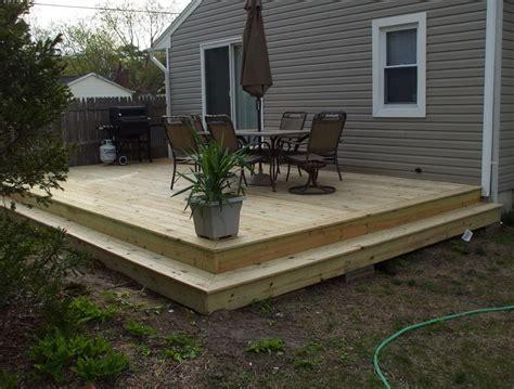 Ground Level Deck Framing Home Design Ideas