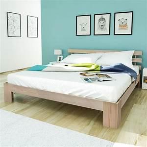 Lit En 180 : acheter lit en bois de pin massif naturel 200 x 180 cm pas cher ~ Teatrodelosmanantiales.com Idées de Décoration