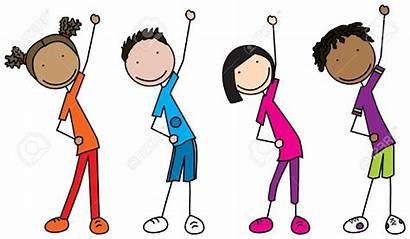 Exercising Clipart Happy Stick Workout Exercise Healthy
