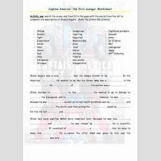 Movie Worksheet Captain America The First Avenger