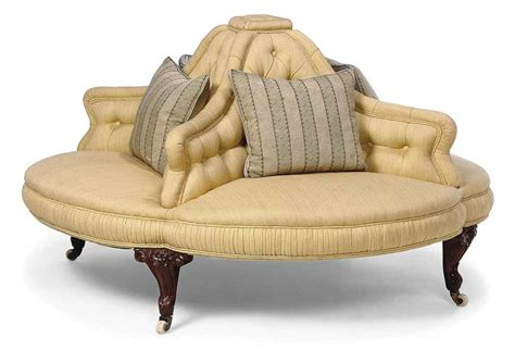 Conversation Settee by A Mid Walnut Conversation Sofa Third Quarter