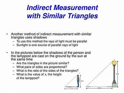 Indirect Measurement Worksheet Similar Multiple Choice Figures