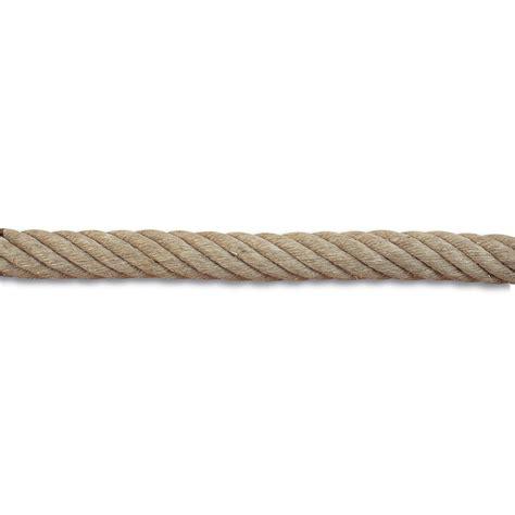corde pour re escalier corde de re et accessoires en chanvre diam 32 mm leroy merlin