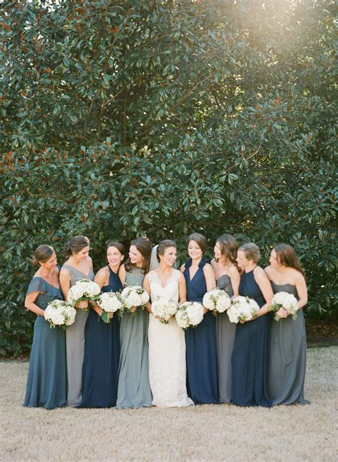 shades  blue bridesmaids dresses elizabeth anne