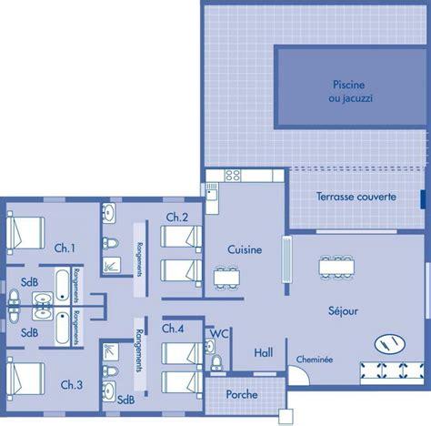 chambre de villa plan de villa 4 chambres maison moderne