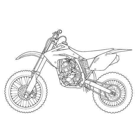 Kleurplaat Crossmotors by Leuk Voor Motor 0012