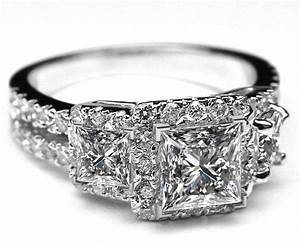 stone princess cut diamond rings princess engagement rings With wedding band for 3 stone princess cut engagement ring