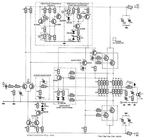 High Power Mosfet Amplifier Circuit Ideas