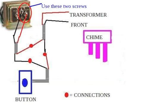 byron doorbell transformer chime wiring diagram wiring
