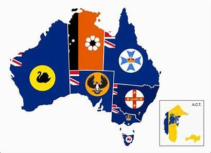 Flag Australia States Map Territories Mainland Maps