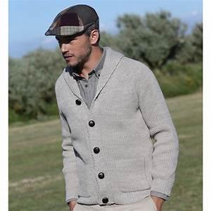 Gilet Col Chale Homme : pulls gilets cardigans homme le comptoir irlandais ~ Melissatoandfro.com Idées de Décoration
