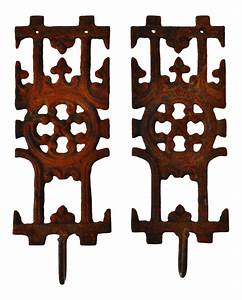 pair of asian inspired architectural cast iron decorative With kitchen cabinet trends 2018 combined with decorative wrought iron wall art