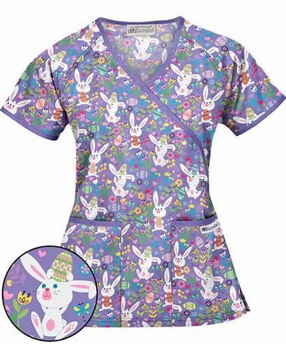 Scrubs Scrub Pediatric Easter Tops Stylish Nursing