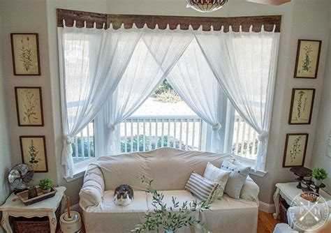 farmhouse window treatments  reclaimed wood