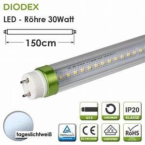Led Röhre T8 : diodex 150cm led r hre t8 30watt tageslichtwei 60 ~ Watch28wear.com Haus und Dekorationen