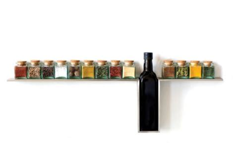 Spice Rack Design by Stylish Wall Mounted Line Spice Rack For Your Kitchen By