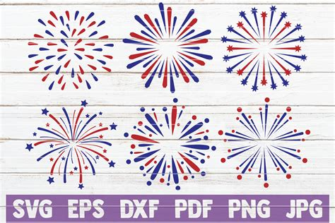 Is there a free svg file for fireworks? 4th of July Fireworks SVG Bundle (Graphic) by ...