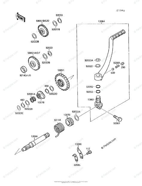 kawasaki atv  oem parts diagram  kickstarter