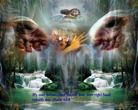 Jesus, My Soul Is In Your Hands  3d And Cg & Abstract