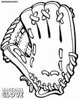 Baseball Glove Coloring Colorings sketch template
