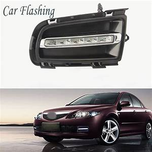 Car Flashing 2pcs For Mazda 6 Mazda6 2005 2009 Led Drl Daytime Running Light Daylight Waterproof