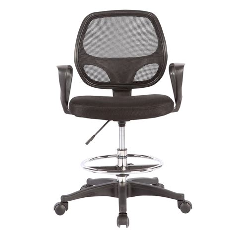 ergonomic office drafting chair stool adjustable footring