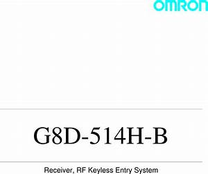 Omron Automotive Electronics G8d