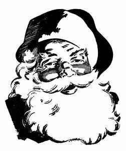 vintage santa claus coloring pages