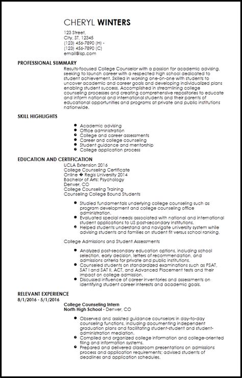 Academic Advising Resume by Free Entry Level Academic Advisor Resume Templates Resumenow